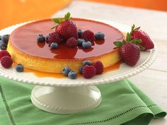 This looks amazing! And it's just sugar with no fat pretty much. Say hello to Crème Caramel.