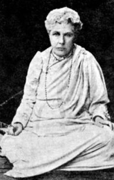 Annie Besant circa 1915. Founder of the Theosophical Society.