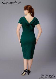 Elise rockabilly vintage inspired dress 40s 50s custom made. $89.00, via Etsy.