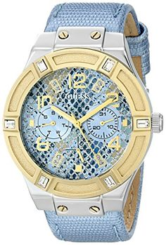 Women's Wrist Watches - GUESS Womens U0289L2 Ice Blue Python Print Multifunction Watch >>> You can get additional details at the image link.