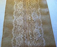 Burlap & Lace Table Runner (Natural Lace, 12x108 Inches) Ruby Design http://www.amazon.com/dp/B00M23B4AS/ref=cm_sw_r_pi_dp_JQHzub0FVDAEA