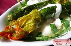 Polenta citron, burrata, fleurs de courgette