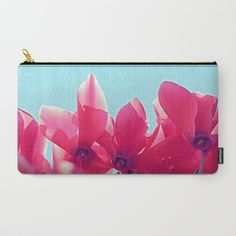 Cyclamen blossom Carry-All Pouch by maryberg Pouches, Carry On, Screen Printing, Mary, Unisex, Artwork, Prints, Stuff To Buy, Design