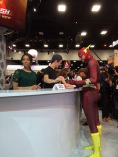 .@grantgust and, we're guessing, a fan. #DCSDCC #WBSDCC