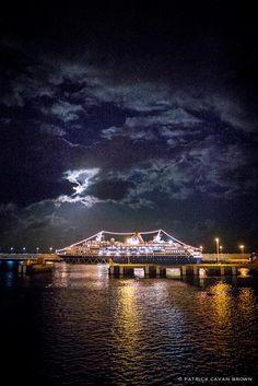 My home for 3.5 glorious months. Semester at Sea's ship the MV Explorer illuminated at night in Santa Cruz. Photo by http://patrickcavanbrown.com