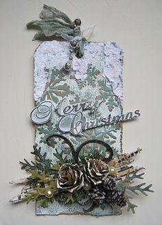 geinspireerd door Tim Holtz 12 tags of Christmas tag 1 en 2, 2011