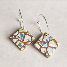 MATTONELLE earrings  hoops image 1 Hoop Earrings, Etsy, Image, Jewelry, Handmade Gifts, Hand Made, Jewlery, Jewerly, Schmuck