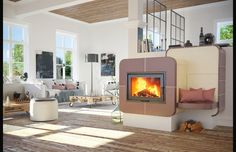 Stove, Home Appliances, Wood, Design, Home Decor, Fireplace Heater, Pictures, House Appliances, Decoration Home