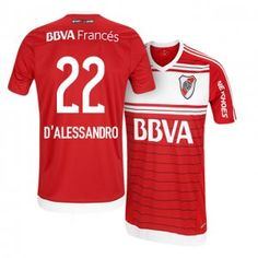 1908526f98669 River Plate Away 16-17 Season  22 D Alessandro Red Soccer Jersey