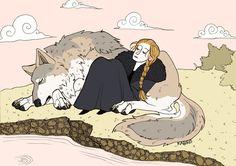 Sansa and Lady by psychomindset
