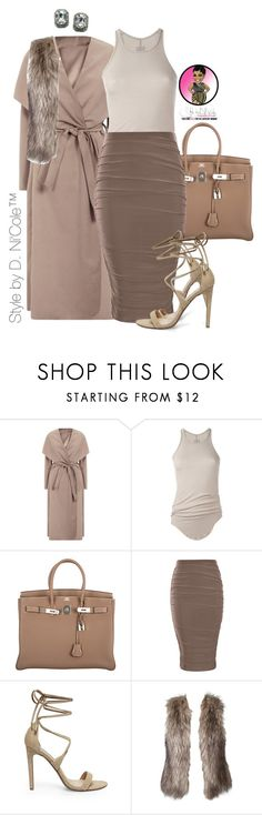 """Untitled #2827"" by stylebydnicole ❤ liked on Polyvore featuring Rick Owens, Hermès, Steve Madden and Fantasy Jewelry Box"