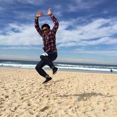 Jumping babe  #iphone6 #sydney #bondibeachsydney #bondibeach #australia #liauwtravel by lidyaauw12 http://ift.tt/1KBxVYg