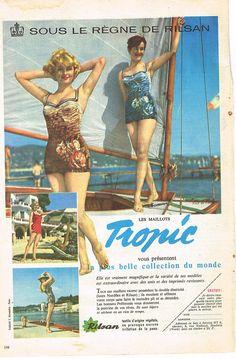 Publicite Advertising 1959 Tropic Maillots DE Bain | eBay