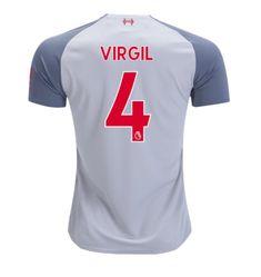 77fcd11d67b Virgil van Dijk  4 Liverpool 2018 2019 Third Jersey by New Balance - white  New