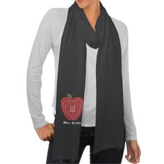 Folk Art Inspired Red Apple Teacher Scarf  Click on photo to purchase. Check out all current coupon offers and save! http://www.zazzle.com/coupons?rf=238785193994622463&tc=pin