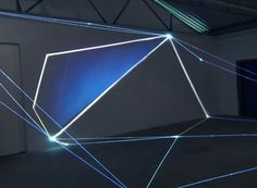 Carlo Bernardini Light Tension,  2012  Optic fibers, video, light projection