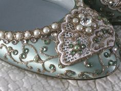 Items similar to Golden Vines Bridal Ballet Flats Wedding Shoes - Any Size - Pick your own shoe color and crystal color on Etsy Pointe Shoes, Ballet Flats, Cinderella Slipper, Cinderella Wedding, Pistachio Green, Wedding Shoes, Dream Wedding, Crystal Jewelry, Swarovski Crystals