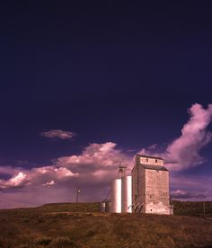 grain elevator on mars - Special polorizer filter at night on these Palouse grain elevators Elevator, Mars, Filters, Grains, Clouds, Night, Photography, Outdoor, Outdoors