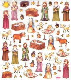 Sticker King nativity stickers