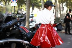 Motorcycles & patent leather #PFW