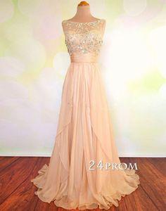 Charming Rhinestone sequined Chiffon Long Prom Dresses,Graduation Dres – 24prom #prom #promdress #promdresses #eveningdress #formaldress #longpromdress