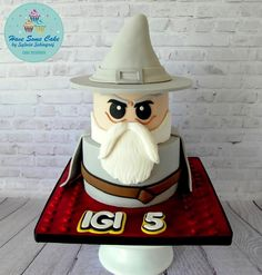 Terrific LEGO Gandalf Cake made by Have Some Cake