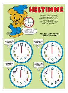 Klockan – Bamse.se Educational Activities For Kids, Kids Learning, Soft School, Waldorf Preschool, Learn To Tell Time, Teaching Materials, Working With Children, Teaching Math, Teaching Ideas