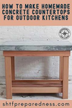 Do you want to build a durable outdoor kitchen? If so, you should take a look at this article by SHTF Preparedness to learn how to make homemade concrete countertops. Making sure that your outdoor kitchen is durable and will last for a long time is vital, so don't make any mistakes and check out this article now for more. #outdoorkitchen #durablekitchen #outdoorkitchenideas Easy Diy Projects, Garden Projects, Design Projects, Concrete Countertops, How To Make Homemade, Useful Life Hacks, Shtf, Modern Family, Outdoor Entertaining