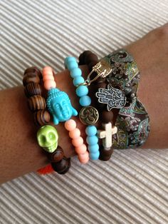 good luck bracelet, wellness bracelet, charm bracelet, spring bracelet, black rose charm on Etsy, $43.99