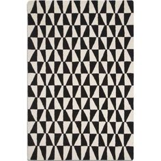 Geometric Wool Rug: Bold black and white rug with striking geo pattern in two size options made from wool, from Barker and Stonehouse (product code: Affiliate. White Rug, White Area Rug, Black White, Black And White Living Room, Barker And Stonehouse, Rug Company, Geometric Rug, Geometric Patterns, Modern Rugs