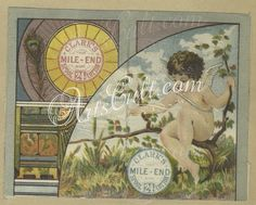 1660-Trade cards depicting angels, flowers, men, a woman and a girl in the snow wearing a muff.102896      ...