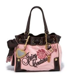 c4c9cb327d Juicy Couture Velour Rose Flower Daydreamer Bag Tote Pink Juicy Couture