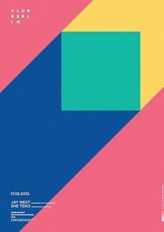 Geometric poster design by Horacio Lorente. Design Plat, Web Design, Book Design, Layout Design, Design Typography, Graphic Design Posters, Flat Design Poster, Simple Poster Design, Minimalist Poster Design