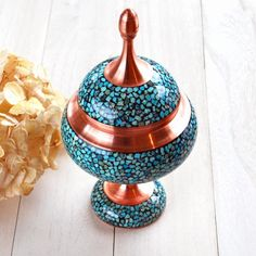 Turquoises Candy and Cookie Container - Beckyson ベッキーソン http://www.beckyson.co/?pid=78830082