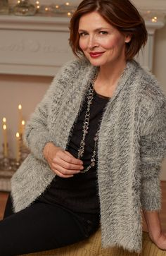You'll be in the lap of luxury with our ultra-soft cardigan, available in select stores and online.