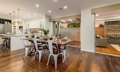Beautiful Home Designs, Beautiful Homes, Mcdonald Jones Homes, Kitchen Dining, Dining Room, Brighton Houses, Build Your Own House, Display Homes, Country Style Homes