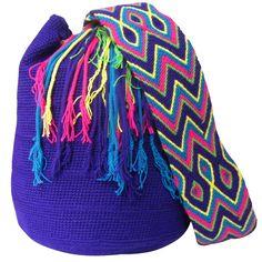 Mochila Bag. $90.00 FREE SHIPPING | Handmade and Fair Trade Wayuu Mochila Bags – LOMBIA & CO. | www.LombiaAndCo.com