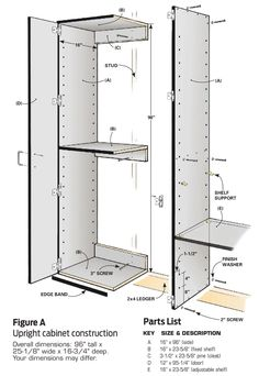 DIY Wooden Garage Cabinets Garage Cabinets: DIY Wooden Storage Cabinets<br> Inexpensive, enormous and surprisingly easy to build Garage Cabinet Systems, Diy Garage Storage Cabinets, Easy Garage Storage, Diy Cabinets, Locker Storage, Garage Organization, Cheap Storage, Cabinet Storage, Bike Storage