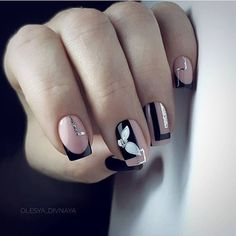 AND HOTTEST FRENCH NAIL ART DESIGNS IDEAS 2019 : French manicure creates a long lasting visual effect on the fingers, and now French manicures are derived from a variety of color variations, and there are a variety of nail inspirations that are i Square Nail Designs, Cute Nail Art Designs, Colorful Nail Designs, Nail Polish Designs, Nails Design, Nail Color Designs, Short Square Nails, Short Nails, Long Nails
