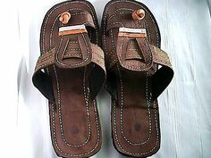 Kenya sandals-Recycled tire sandal of Africa(Canvas overlaid)U.S SIZE13,U.K12.5