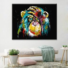 1 new message Wall Art Pictures, Canvas Pictures, Canvas Art Prints, Canvas Wall Art, Art Mural Fashion, Poster Decorations, Mural Art, Home Decor Wall Art, Animal Paintings