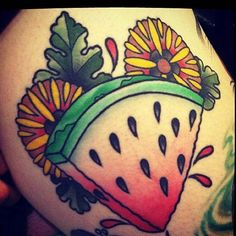 In memory of my sister Mare who LOVES watermelon! lol Who wants to have a watermelon seed spitting contest?