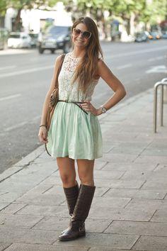 Street style en Madrid: vestido de Zara