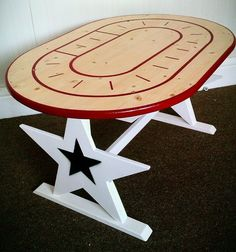 Well, this is usefell ! Drinking + studying new roller derby strategies. I NEED this table for derby party central!
