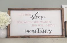 Let her sleep for when she wakes she will move by SKWoodDesigns
