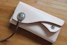 e1af0c94a73bb Handmade custom vintage purse leather wallet long phone wallet blue women  Telefon Brieftasche