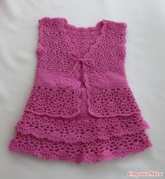 """Top & Skirt free crochet pattern--Pattern and website in Russian, but there are charts to follow that can be helpful. I think this is beautiful and may try it someday, but am pinning it for that """"someday"""". LOL!"""