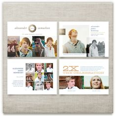 'Guys Graduate 2015', on Minted.com. Photo graduation cards and announcements by Carol Fazio. Foil, mullti-photo, college, commencement, twins, modern, traditional.