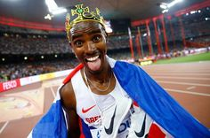 World Athletics Championships 2015: day eight – in pictures   Sport   Farah has become the first man in history to pull off a distance 'triple-double'. Not only has he won three successive world 5,000m titles, he has a historic 'triple-double' of 5,000m and 10,000m golds at London 2012, Moscow 2013 and Beijing 2015