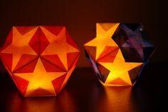 Waldorf inspired dodecahedron star paper lantern tutorial. perfect for Laternenumzug/Laternenfest on Nov 11 in Germany or winter solstice. Laterne, Laterne  Sonne Mond und Sterne Brenne auf mein Licht aber nur meine liebe  Laterne nicht. Song - https://www.youtube.com/watch?v=6cV1o_JlgWY